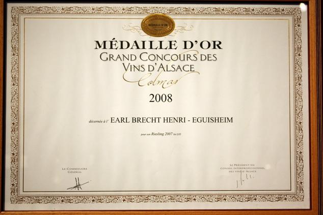 vins-alsace henri-brecht -Histoire et palmarès - 2008