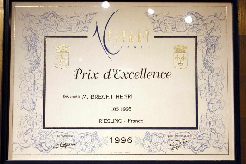 vins-alsace henri-brecht -Histoire et palmarès - prix-excellence-civart